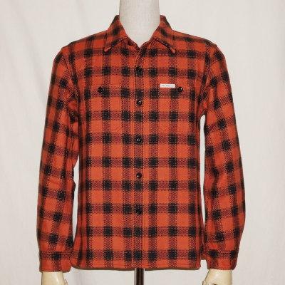 HN-64W-オレンジ-ヘビーネルシャツ64-HN64W-FLATHEAD-フラットヘッドシャツ-ワークシャツ【送料無料】【smtb-tk】