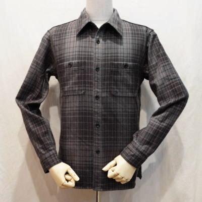 HN-67W-チャコールブラック-ヘビーネルワークシャツ67-HN67W-FLATHEAD-フラットヘッドシャツ【送料無料】【smtb-tk】
