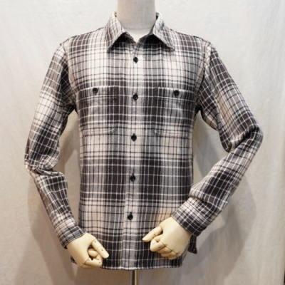 HN-67W-アイボリーブラック-ヘビーネルワークシャツ67-HN67W-FLATHEAD-フラットヘッドシャツ【送料無料】【smtb-tk】