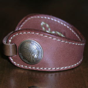 PEACEMAKER-WB2 - ピースメーカーブレス 2-PEACEMAKERWB2-REDMOON-Red Moon leather bracelet