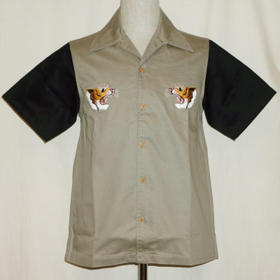 SSK17-EB-ブラック-刺繍スカシャツ半袖-SSK17EB-SAMURAIJEANS-サムライジーンズシャツ-シャツ半袖【送料無料】【smtb-tk】