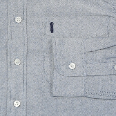 SJBD-L01-인디고세르빗치옥스 BD셔츠 긴소매 L01-SJBDL01-SAMURAIJEANS-사무라이 청바지 셔츠-보턴다운 셔츠