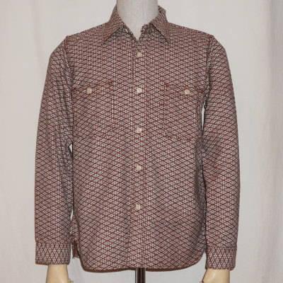 SSS15-L01-ブラウン-刺し子ワークシャツ15-L01-SSS15L01-SAMURAIJEANS-サムライジーンズシャツ【smtb-tk】【送料無料】