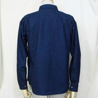 선행 예약 접수중!SSS17-SK-인디고 누비옷 워크 셔츠 17-SK-SSS17SK-SAMURAIJEANS-사무라이 청바지 셔츠-긴소매 셔츠