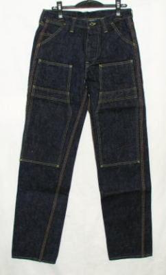 17 Oz SM 410DBN-デニムダブルニーワークパンツ - SAMURAIJEANS-サムライジーンズデニムジーンズ-Samurai Automobile Club denim jeans