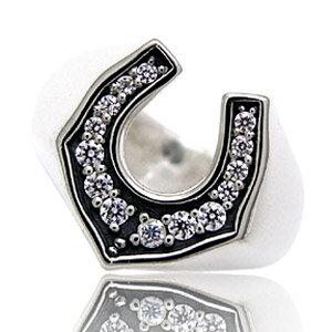 送料無料! r0511 シルバーリング  シルバーアクセサリー  ケルト人の幸運の象徴 ホースシューでスタイリッシュに飾る! シルバー リング  指輪 アクセサリー│シルバー925│メンズ ホースシュー・馬蹄│ジルコニア