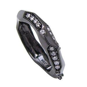 シルバーリング  送料無料! r0536 シルバーリング シルバーアクセサリー オトコをセクシーに魅せるBLACKランダムカット!! シルバー 指輪 シルバー925│メンズ・レディース ランダム ジルコニア ブラックコーティング