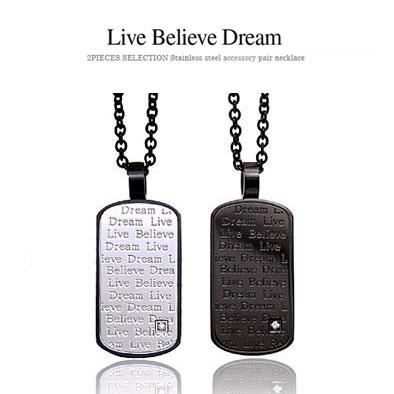 メール便なら送料無料 spe0182 ペンダントトップのみ Live Believe 国内正規総代理店アイテム Dream 夢を信じて生きる アクセサリー メンズ 金属アレルギー対応 ステンレス 物品 ペンダント メッセージ