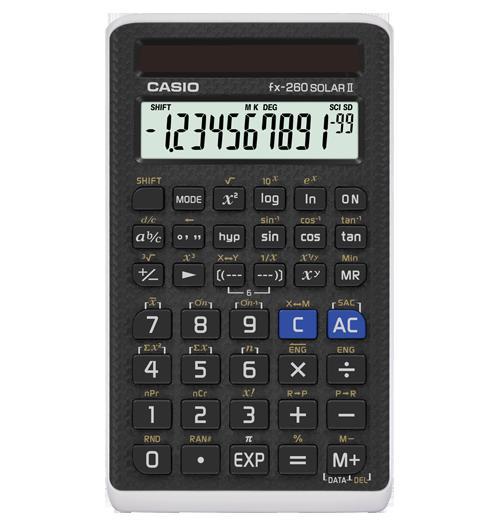 送料無料 太陽電池だけで作動するカシオ電卓 10桁×2行の液晶ディスプレイ CASIO カシオ 関数電卓 fx-260 Solar2 太陽電池 日本型番fx-260aの後継機