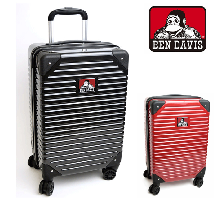 ベンデービス キャリーバック 機内持ち込み対応 TSAロック コインロッカー対応サイズ 4輪 軽量 海外旅行 卒業旅行 国内旅行 フェス ブラック ワイン 多段式キャリーバー ダブルキャスターホイール キャリーケース スーツケース