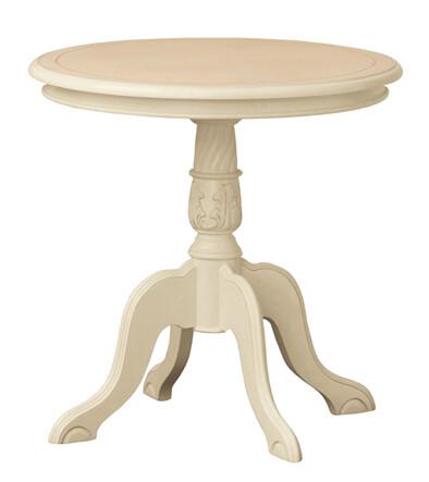 送料無料 テーブル ホワイト カフェテーブル 丸 円型 天然木 木製 高級感 アンティーク レトロ コーヒーテーブル クラシック センターテーブル リビングテーブル コモ ヨーロピアン調家具 飾り棚 飾り台 玄関 花台 おしゃれ