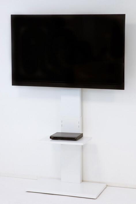 送料無料 壁掛け風テレビ台 ハイタイプ 壁寄せテレビスタンド 壁寄せテレビ台 テレビボード 壁面収納 32V型 60v 32インチ TVラック スチール おしゃれ 省スペース TVスタンド テレビラック ホワイト