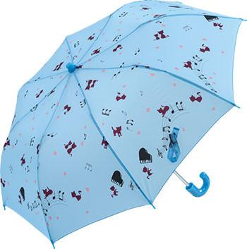 折りたたみ傘 55cm 60本アソート トップレス キャットミュージック ブルー、ピンク、パープル各20本 合計60本アソート