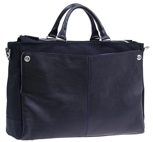 本革コンビビジネスバッグ 豊岡 日本製 ショルダー ビジネス 鞄 ブリーフケース パソコン PC タブレット 収納 メンズ ビジネスバッグ 紳士 シンプル 高級感 贈り物 父の日 ブラック