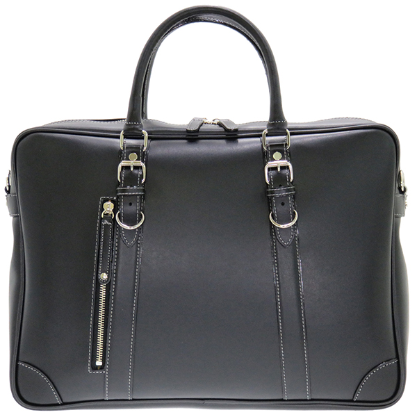 パトリック二本手ビジネスバッグ 本革付属 豊岡 日本製 ショルダー ビジネス 鞄 ブリーフケース パソコン PC タブレット 収納 メンズ ビジネスバッグ 紳士 シンプル 高級感 贈り物 父の日 ブラック クラッシック