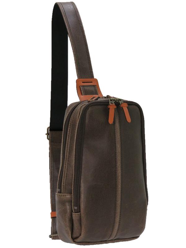 レトロ ボディバッグ 本革付属 鞄 メンズ 大容量 通勤 通学 斜めがけ ボディーバック ワンショルダー かっこいい カジュアル プレゼント ギフト 父の日 高級感