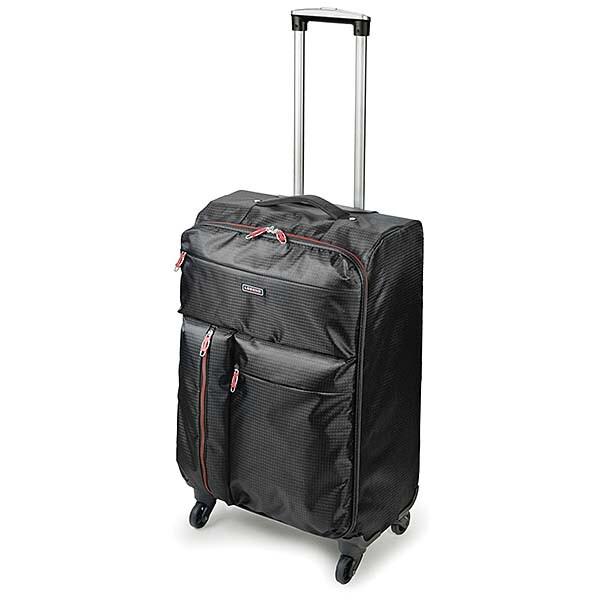 送料無料 コンパクト 収納 レジェンド 折りたたみ可能 キャリーケース Lサイズ 軽量 スーツケース キャリーバッグ ブラック おしゃれ