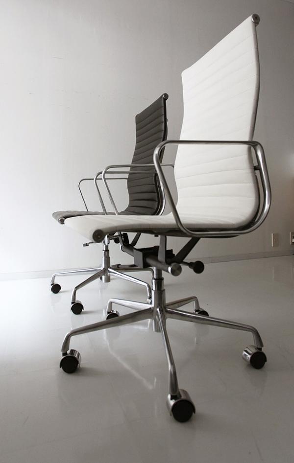 ワークチェア デスクチェアー キャスター オフィスチェア パソコンチェア デザイナーズ 最高級の座り心地。シックな大人のワークチェア アルミナムグループチェア ハイバック おしゃれ 北欧 モダン ミッドセンチュリー レトロ