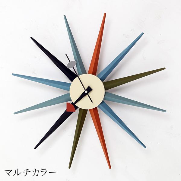 時計 壁掛け 掛け時計 ウォールクロック シック レトロ ジョージ・ネルソン クロック サンバーストクロック デザイナーズ カフェ インテリア ミッドセンチュリー 北欧 モダン おしゃれ