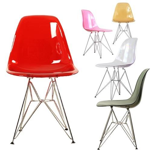 ダイニングチェア 1脚 食卓椅子 椅子 イス いす デザイナーズ イームズDSRクリア おしゃれ 北欧 モダン ミッドセンチュリー レトロ