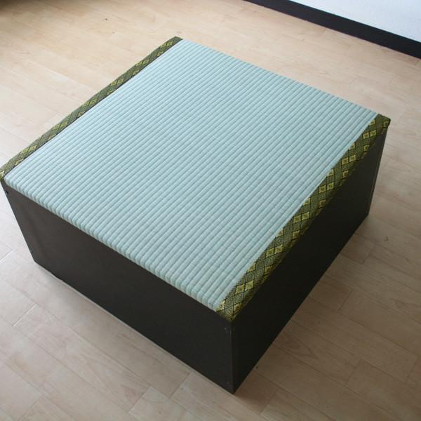 送料無料 高床式ユニット畳(半畳タイプ)ダークブラウン 収納ボックス たたみベンチ 収納ベンチ 畳ユニット おもちゃ箱 畳ボックス 収納ボックス 大容量 和風