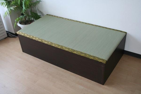 送料無料 高床式ユニット畳(1畳タイプ)ダークブラウン 収納ボックス たたみベンチ 収納ベンチ 畳ユニット おもちゃ箱 畳ボックス 収納ボックス 大容量 和風