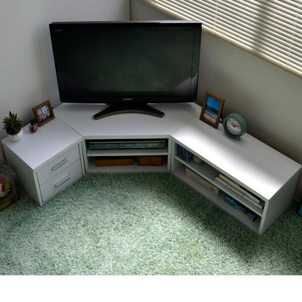 送料無料 コーナーテレビ台 3点セット収納 50インチ 50型 ロータイプ ホワイト 32インチ 32型 収納 ローボード リビングボード 木製 おしゃれ TVボード AVボード テレビラック TV台 TVボード 北欧 シンプル