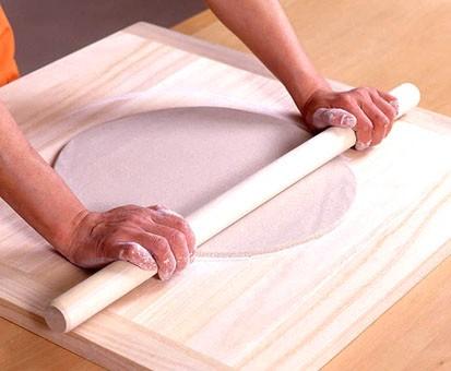 大 桐のし板 棒付 キッチン 蕎麦道具 日本製 木製 めん台 練り台 こね台 こね板