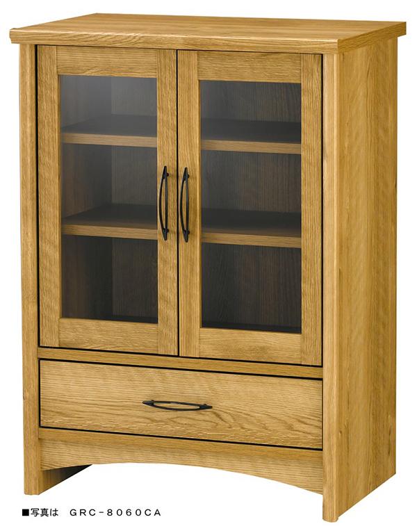 カントリー調家具 キャビネット ガラスキャビネット 木製 リビング キッチン 収納棚 食器棚 グレース FAX台 プリンター台 ナチュラル シンプル おしゃれ かわいい 北欧