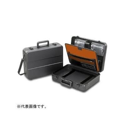 パネル付アタッシュケース L413×W306×H122mm ショルダーベルト・カギ付 KSE-31