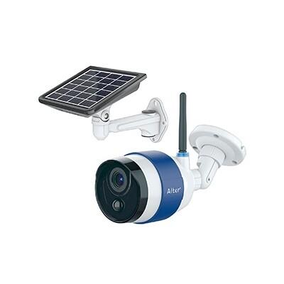 ソーラーバッテリーWi-Fiカメラ スマートフォン専用 防塵・防水タイプ 92万画素 AT-740