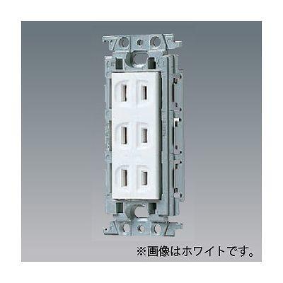 住宅 メーカー直売 事務所などの屋内で使用してください パナソニック 登場大人気アイテム 埋込トリプルコンセント 絶縁取付枠付 15A 利休色 125V WTF13034GK