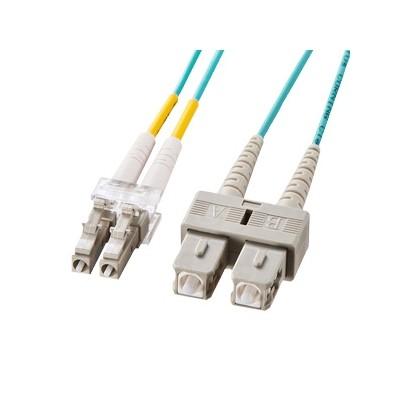OM3光ファイバケーブル 10GBASE-SRSW規格対応 LCコネクタ×2 SCコネクタ×2 10m HKB-OM3LCSC-10L