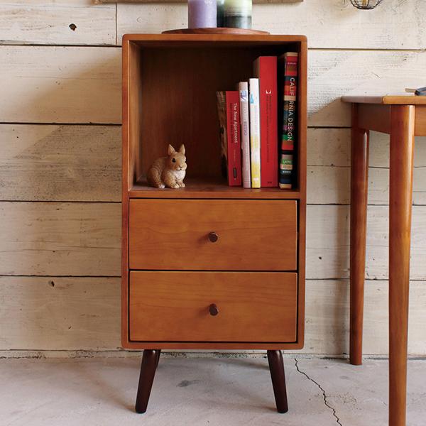 送料無料 チェスト 木製 北欧風 キャビネット リビングボード 電話台 FAX台 飾り棚 引き出し 収納 おしゃれ 小物収納 ココア かわいい