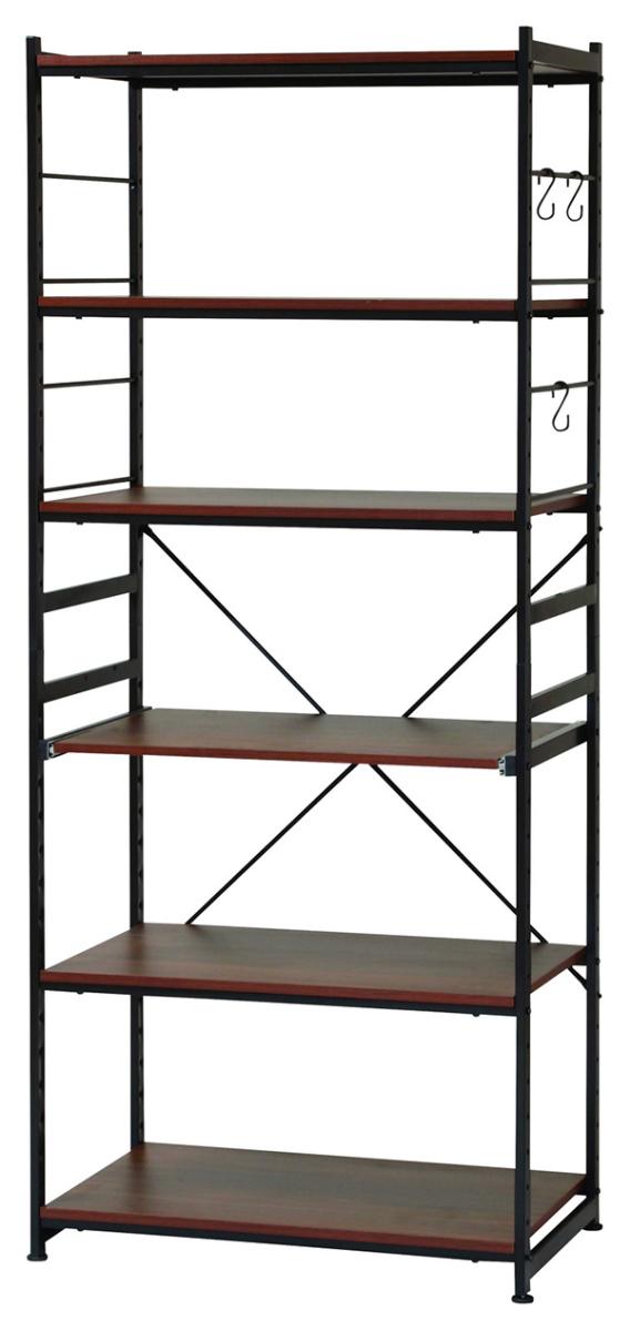 送料無料 スチールラック ワイドタイプ 幅75cm スリムラック スチールシェルフ キッチンラック ディスプレイラック 飾り棚 オープンラック サラ シンプル