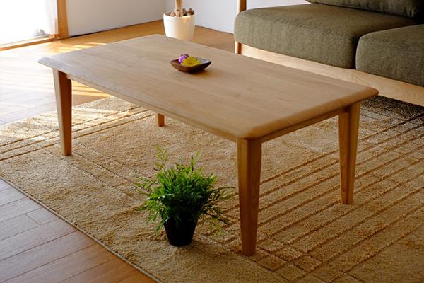 送料無料 センターテーブル 単品 幅105cm ナチュラル アルダー 無垢材 木製 天然木 リビングテーブル ローテーブル カフェ 北欧 モダン 西海岸 おしゃれ 高級感