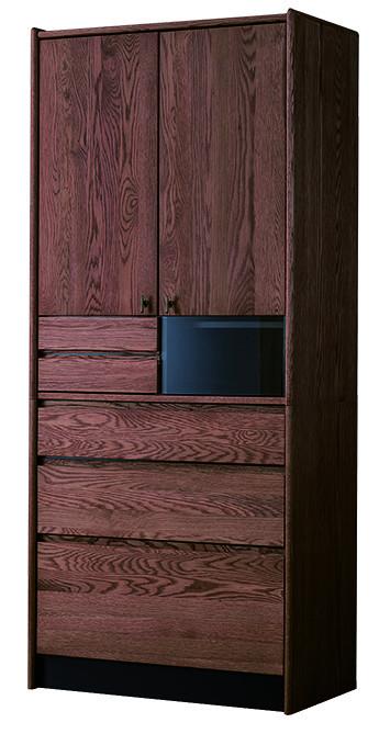 送料無料 カップボード 幅80cm ウォルナット無垢材 食器棚 木製 完成品 キッチンボード キッチン収納 台所 ラック 食器収納 おしゃれ 北欧 モダン レトロ ミッドセンチュリー 高級感