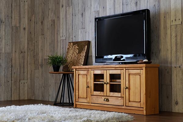 送料無料 完成品 テレビ台 幅110cm ライトブラウン パイン無垢材 TVボード テレビボード コーナー 木製 引き出し 収納 おしゃれ 北欧 モダン ナチュラル カントリー 高級感