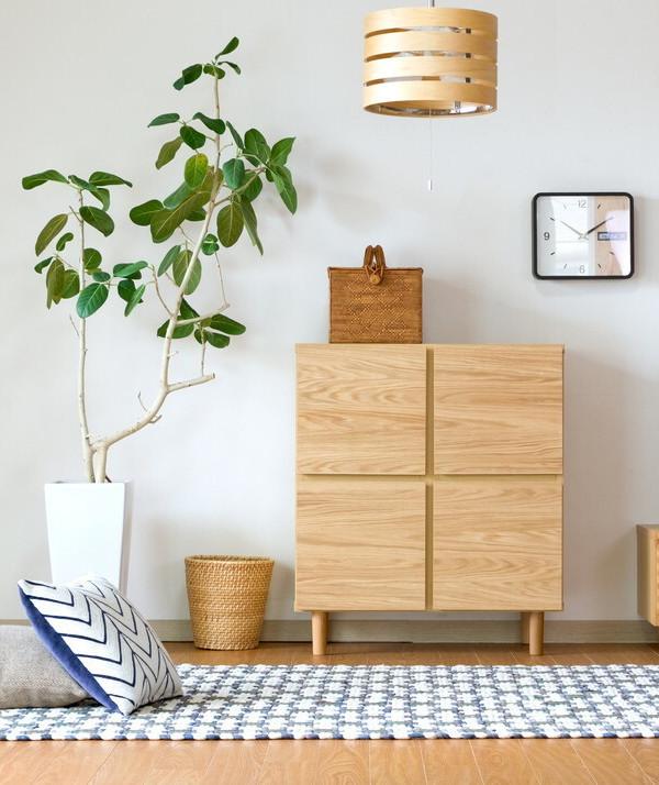 送料無料 キャビネット 幅73.5cm 奥行40cm ナチュラル 木目 リビング収納 本棚 完成品 木製 天然木 リビングボード 収納棚 おしゃれ 北欧 モダン シンプル 高級感