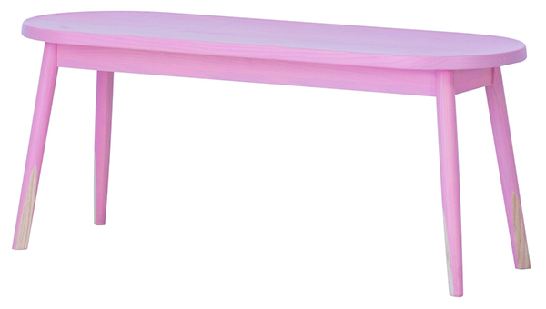 送料無料 ダイニングベンチ ピンク 幅100cm ベンチチェア ダイニング 椅子 木製 チェア イス 椅子 二人 食卓椅子 2人掛け 長椅子 ベンチ おしゃれ 北欧 モダン ミッドセンチュリー かわいい