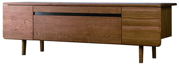 送料無料 TVボード 幅180cm オーク無垢材 テレビボード ローボード ロータイプ 木製 収納 おしゃれ 北欧 モダン シンプル ミッドセンチュリー スタイリッシュ 高級感