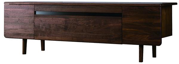 送料無料 TVボード 幅180cm ウォルナット無垢材 テレビボード ローボード ロータイプ 木製 収納 おしゃれ 北欧 モダン シンプル ミッドセンチュリー スタイリッシュ 高級感