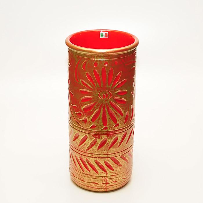 送料無料 イタリア製 陶器かさ立て 傘立て アンブレラスタンド スリム ブロンズ レッド アンブレララック かさたて 傘たて 傘入れ 円柱 円筒 玄関 アンティーク クラシック インテリア おしゃれ
