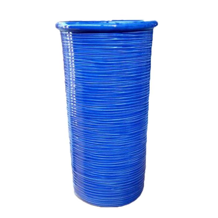 送料無料 イタリア製 陶器かさ立て 傘立て アンブレラスタンド スリム ブルー アンブレララック かさたて 傘たて 傘入れ 円柱 円筒 玄関 アンティーク クラシック インテリア おしゃれ