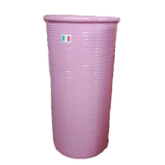 送料無料 イタリア製 陶器かさ立て 傘立て アンブレラスタンド スリム ピンク アンブレララック かさたて 傘たて 傘入れ 円柱 円筒 玄関 アンティーク クラシック インテリア おしゃれ