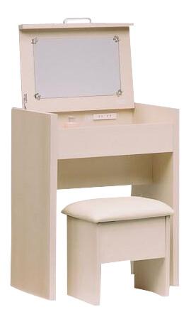 送料無料 ドレッサー コンセント付き テーブル デスク 木製 北欧 カントリー 鏡台 化粧台 ミラー 鏡 おしゃれ かわいい コンパクト