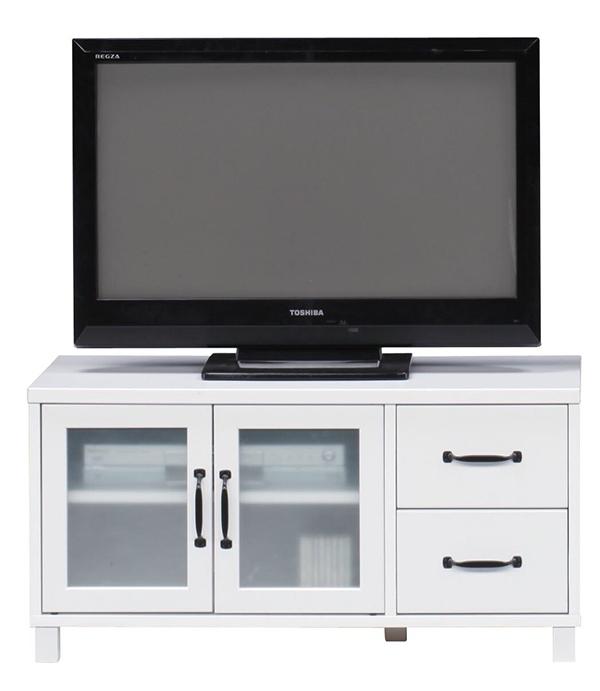 送料無料 90 ローボード ホワイト テレビ台 コンパクト テレビボード リビングボード TV台 TVボード AVボード 引き出し 収納棚 木製 ロータイプ おしゃれ シンプル