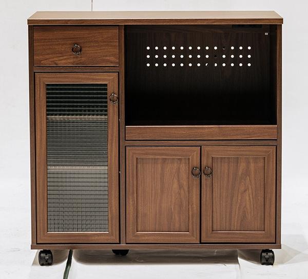 送料無料 キッチンカウンター 間仕切り テーブル 作業台 キャスター 収納棚 引き出し ラック キッチンラック キッチンワゴン 電子レンジ台 炊飯器 レンジ台 コンセント おしゃれ 北欧 モダン ミッドセンチュリー