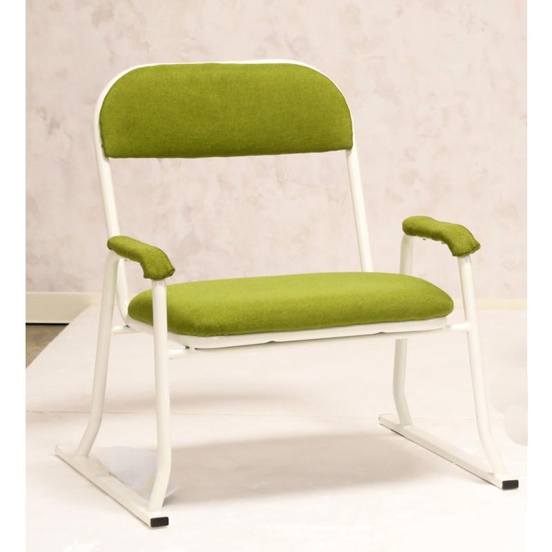 送料無料 お座敷チェアー 4脚入り グリーン 座敷椅子 積み重ねられる スタッキング 高座椅子 座椅子 会席 法事 法要 介護 和室 椅子 いす イス おしゃれ