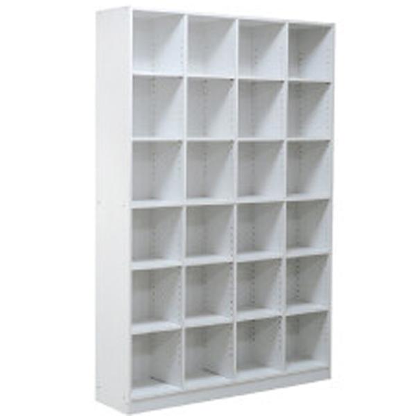 送料無料 本棚 幅約120cm WH ホワイト 書棚 木目 木製 ディスプレイラック 収納棚 大容量 収納ボックス リビング オープンラック 壁面 ハイタイプ おしゃれ 北欧 モダン